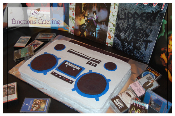 Old School Boom Box Cake for 80s party