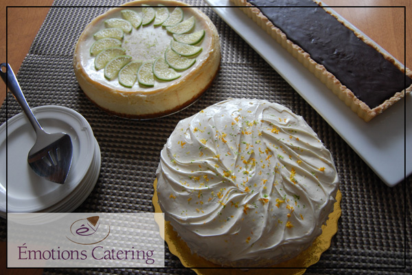 Lime Cheesecake, Carrot Cake and Hazelnut Tart