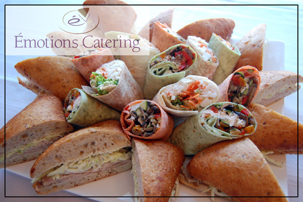 Lunch Menu - Medley of Sandwiches and Wraps