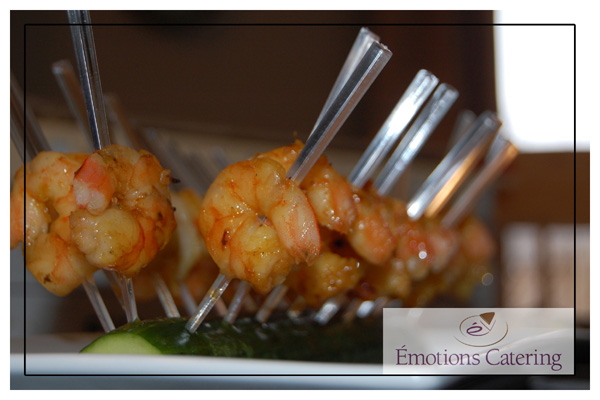 Grilled Honey-Ginger and Curry Shrimp